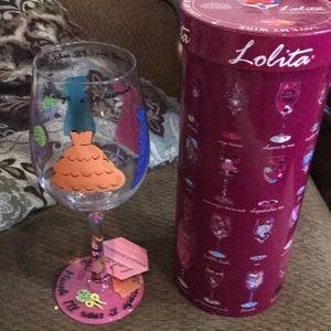 New bridesmaid wine glass